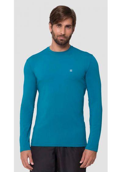 Blue long sleeve for men - UPF50 - CAMISETA UVPRO PETROLEO - SOLAR PROTECTION UV.LINE