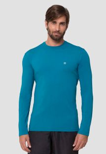 Blue long sleeve for men - UPF50 - CAMISETA UVPRO PETROLEO - SOLAR PROTECTION UV.LINE
