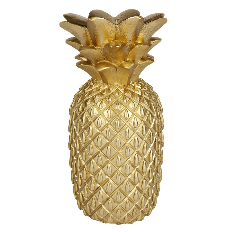 Large gold-coloured pineapple-shaped candle - GOLD PINEAPPLE CANDLE LARGE