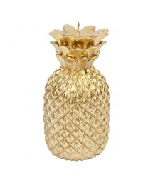 Small gold-coloured pineapple shaped candle - GOLD PINEAPPLE CANDLE SMALL