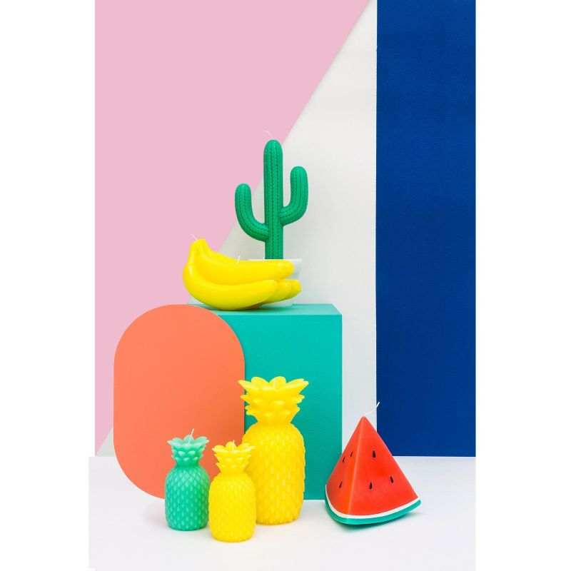 Large candle shaped like a cactus in a flowerpot - CACTUS CANDLE LARGE