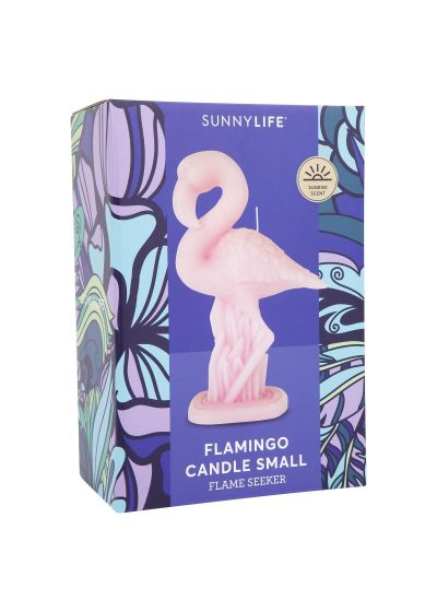 Litet rosa flamingo ljus - FLAMINGO CANDLE SMALL