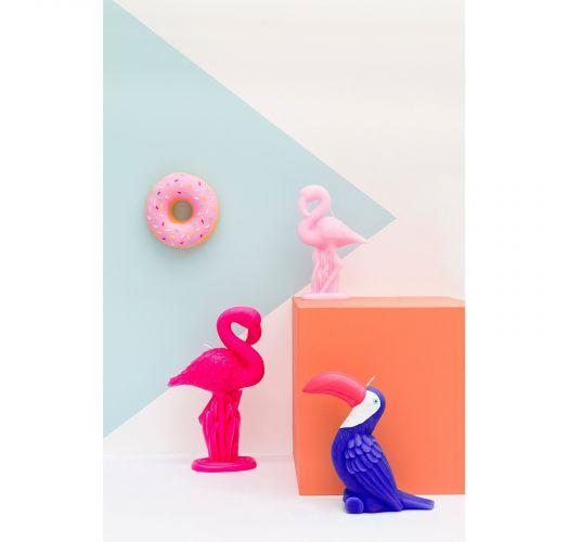 Маленькая свеча в форме розового фламинго - FLAMINGO CANDLE SMALL