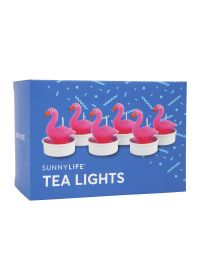 Set of 6 flamingo tealight candles - FLAMINGO TEA LIGHTS