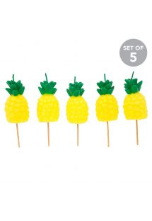Set of 5 pineapple pick candles - PINEAPPLE CAKE CANDLE