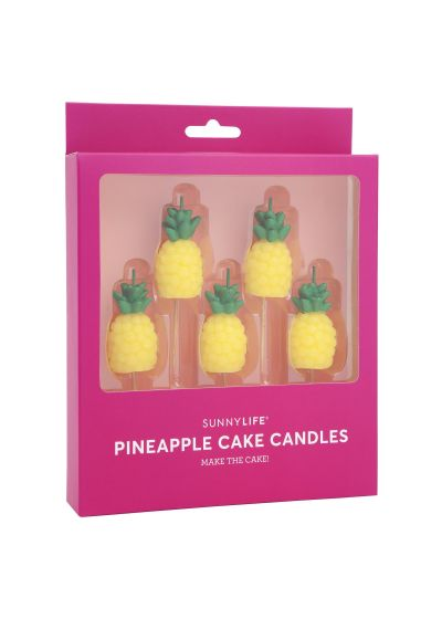 Set med 5 ananasljus - PINEAPPLE CAKE CANDLE