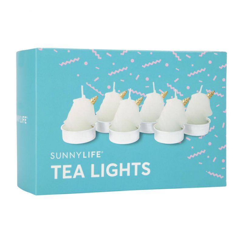 Set med 6 värmeljus, i form av enhörningar - UNICORN TEA LIGHTS