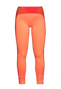 Fitnessleggings i ett fluorescerande orange strechmaterial - LEGGING ATLANTA NEON