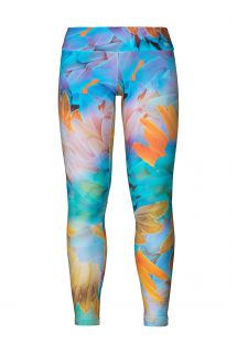 Leggings de fitness com padrão tropical colorido - LEGGING DIGITAL ARARA