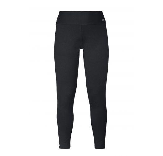 Black plus size workout leggings- LEGGING SUPPLEX TERMO