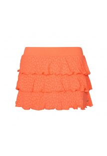 Frilled neon-coloured fitness skirt with built-in shorts - SAIA RENDA NEON