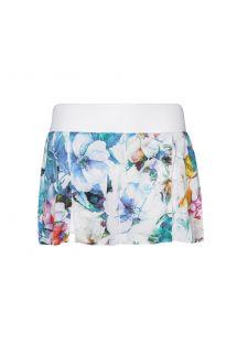 スポーツスカート、花柄、白のショーツ付き - SKIRT AQUA FLOWER