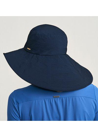Marineblauer großer geschmeidiger Hut - CHAPEU BEVERLY HILLS MARINHO - SOLAR PROTECTION UV.LINE