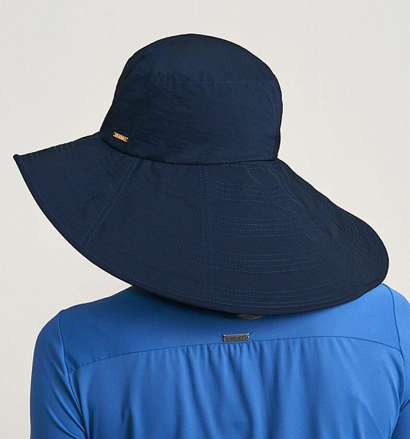 Stor marinblå mjuk hatt - CHAPEU BEVERLY HILLS MARINHO - SOLAR PROTECTION UV.LINE