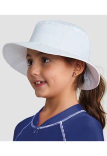 Chapeau fille souple blanc emplacement cheveux - CHAPEU CALIFORNIA KIDS BRANCO - SOLAR PROTECTION UV.LINE