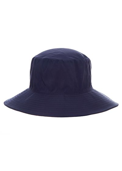 Navy elastic beach hat (for ponytail) - CHAPEU CALIFORNIA MARINHO - SOLAR PROTECTION UV.LINE