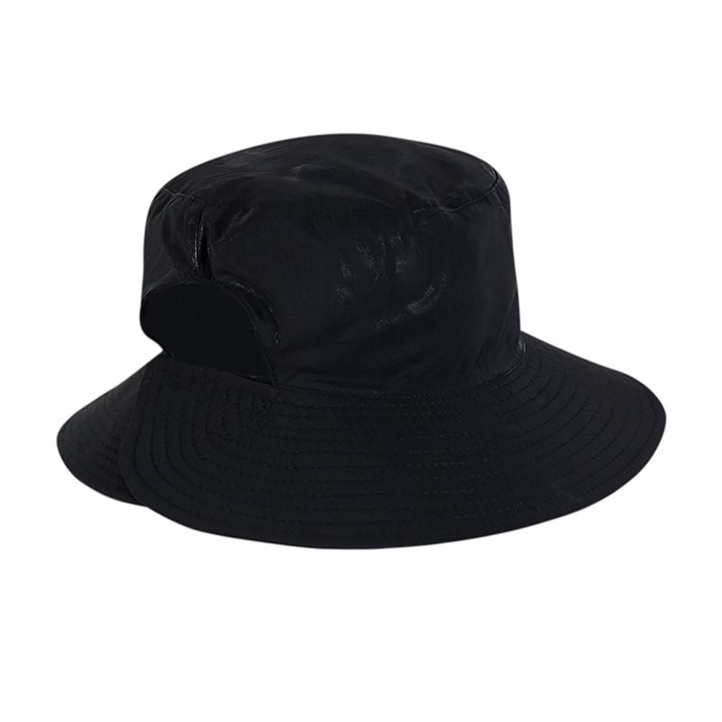 Black elastic beach hat (for ponytail) - CHAPEU CALIFORNIA PRETO - SOLAR PROTECTION UV.LINE