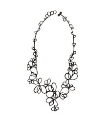 Black flower-petal necklace - PETALS COLLIER