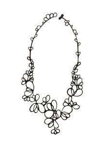 Fantasievolle schwarze Blütenblätter-Halskette - PETALS COLLIER