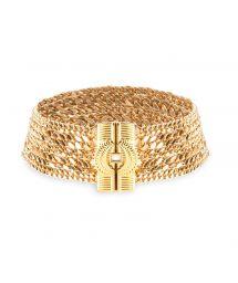 Golden multi-chain choker necklace - HIPANEMA AGYLINE GOLD