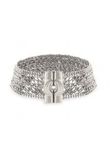 Silver multi-chain choker necklace - HIPANEMA AGYLINE SILVER