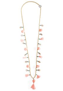 Collana rosa con nappine e conchiglie - HIPANEMA LILA PINK