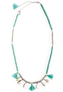 Short blue/silver necklace with shells - HIPANEMA LYCIA TURQUOISE