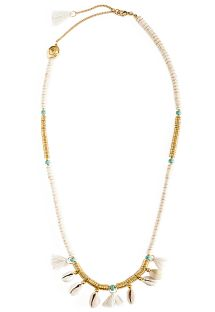 Collar corto blanco/dorado con cochas - HIPANEMA LYCIA WHITE