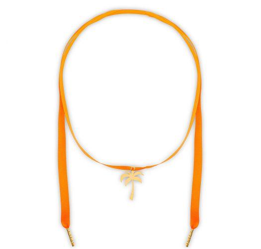 Collana arancione con palma placcata oro - CHOCKER LARANJA