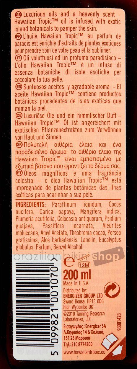 HAWAIIAN TROPIC BRONZING LOTION - 200ml FPS 0