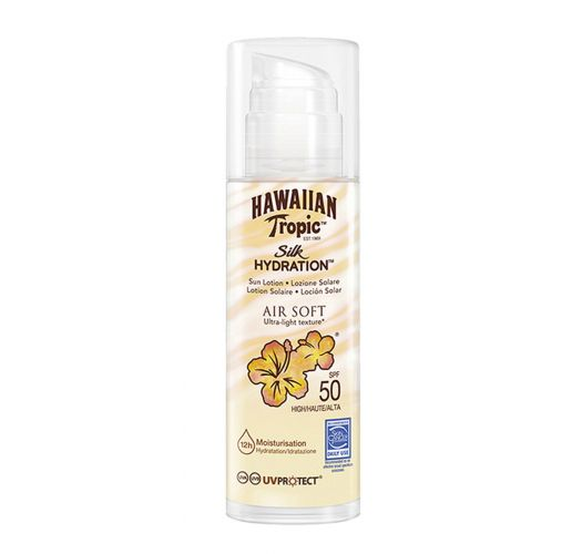 Sunscreen lotion 12H hydration SPF50 - HAWAIIAN TROPIC SILK AIR SOFT BODY SPF50