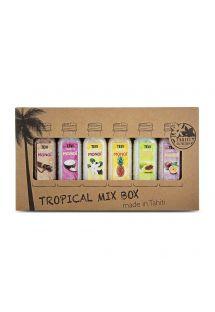 Set of 6 bath salts with exotic scents - BATH SALT 6X30 ML TROPICAL MIX BOX