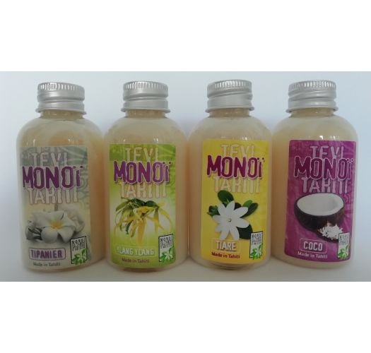 Travel set of 4 monoi oils - different scents - PACK MONOI TEVI 4X60ML