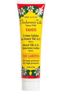 Zonnemelk factor 50, verrijkt met Monoi uit Tahiti - TIKI CREME SOLAIRE AU MONOI TIKI SPF50+ 100ML