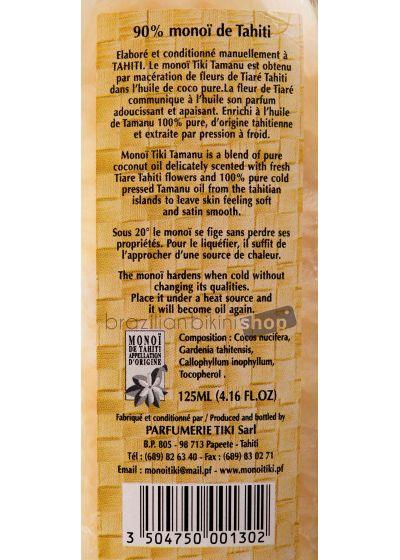 Monoï med Tamanu olja, 100% naturlig - Tiki Monoi Tamanu 125 ml