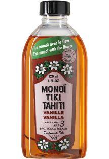 Mono� con olor a vainilla, �ndice de protecci�n solar 3 - TIKI Monoi Vanille SPF3 120ml