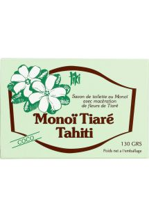 Monoi de Tahiti vegetabilsk såpe, kokosnøtt duft - TIKI SAVON COCO 130g