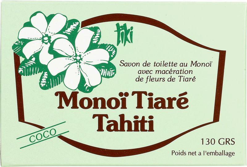 Monoi de Tahiti grönsakstvål, kokosdoft - TIKI SAVON COCO 130g