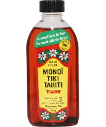 Authentic Tahiti monoï with tiaré flower - MONOÏ TIKI TIARÉ SOLAIRE INDICE 3 120ml