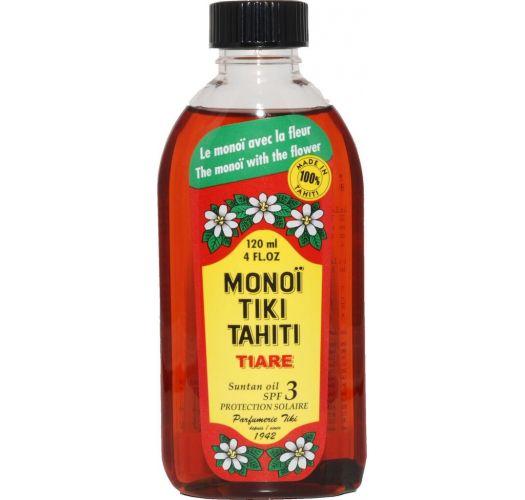 Autentični tahićanski monoi sa cvetom tiare - MONOÏ TIKI TIARÉ SOLAIRE INDICE 3 120ML