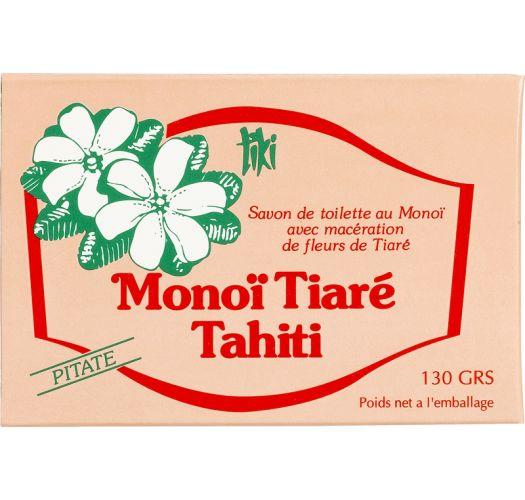 100% растительное мыло моной Таити, с эссенцией питате (цветок любви) - TIKI SAVON PITATE 130g