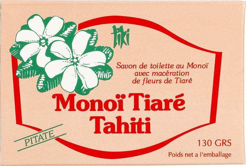 100% vegetabilisk tvål tillverkad av Monoi de Tahiti och pitaté extrakt - TIKI SAVON PITATE 130g