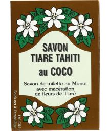Plant-based soap with 30% Tahitian monoi, coconut fragrance - TIKI SAVON TIARE TAHITI COCO 130g