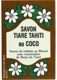 Växtbaserad tvål med 30% Tahitian Monoi, kokosdoft - TIKI SAVON TIARE TAHITI COCO 130g