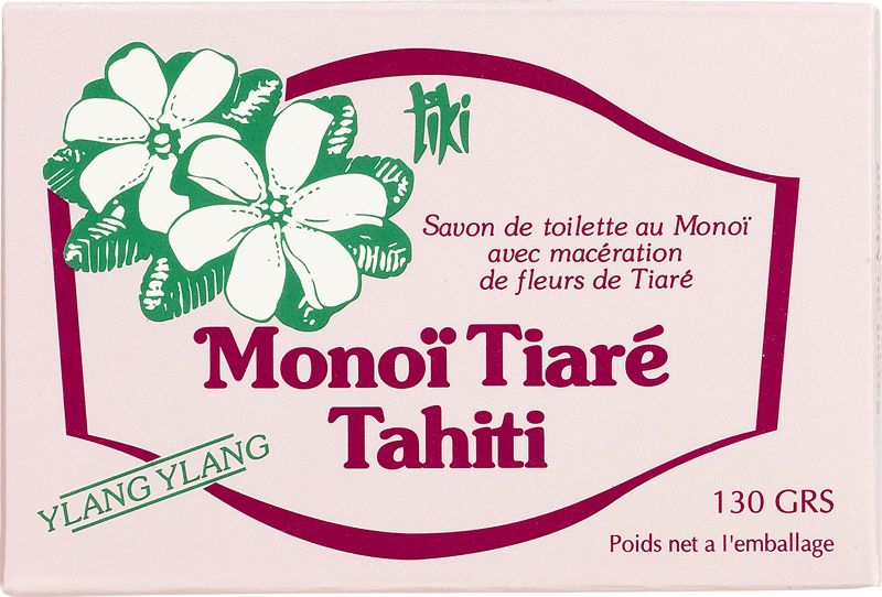 Ylang-ylang doftande grönsakstvål med Monoi och kokosolja - TIKI SAVON YLANG YLANG 130g