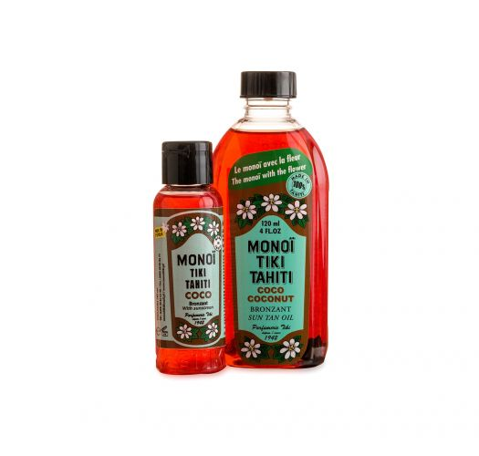 Lot de monoï bronzant parfum coco 120ml et 60ml - DUO BRONZANT COCO