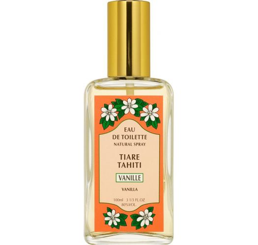 Vanilla Fragrance Perfume, Glass Vaporiser Bottle - EAU DE TOILETTE TIKI VANILLE 100ML