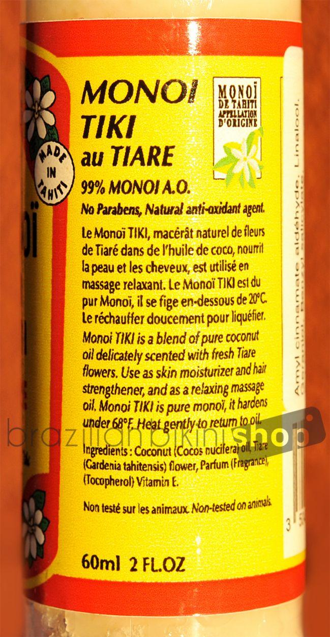 Monoi de Tahiti TIKI TIARE 60 ML