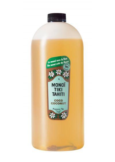 Monoi de Tahiti pro format, tiare blomman - MONOI TIKI COCO 1L
