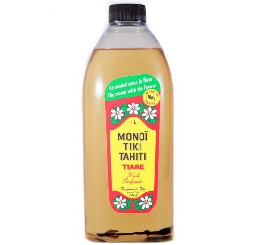 Monoi de Tahiti professional format, Tahitian tiaréflower - MONOI TIKI TIARE 1L